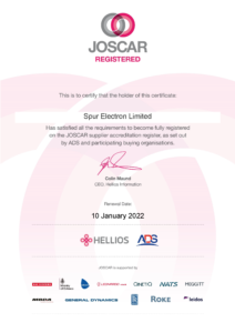 JOSCAR Certificate (Spur Electron Limited) ISO 9001